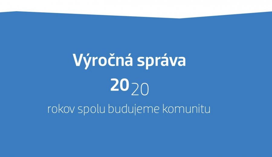 Vydali sme výročnú správu 2020